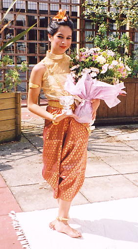 Kaliane Bradley - who performed an exhibition of classical Cambodian dance