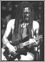 Clifford 'Moonie' Pusey - lead guitarist with Steel Pulse