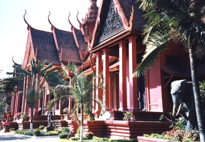 The entrance to the National Museum, Phnom Penh.