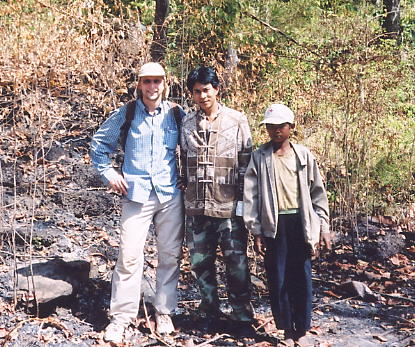 The author (left) and pals at Prasat Neak Buos, along the Thai-Cambodian border.
