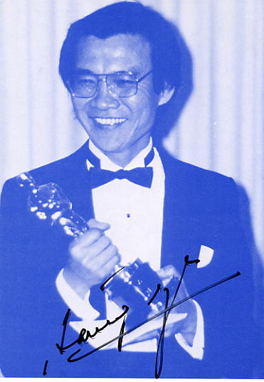 An autographed photo of Oscar-winning actor, Haing S Ngor.