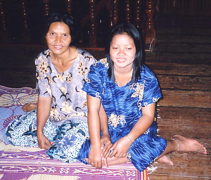 January 2003 - Noung (right) and her mother at their home.