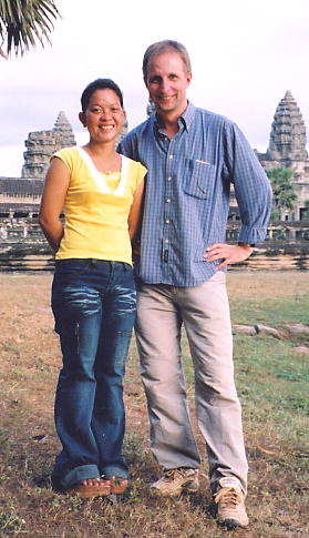 Noung and the author at Angkor Wat in December 2003.