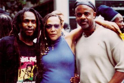 David Hinds, cousin Sharon and Onelove in Brooklyn, 2003.
