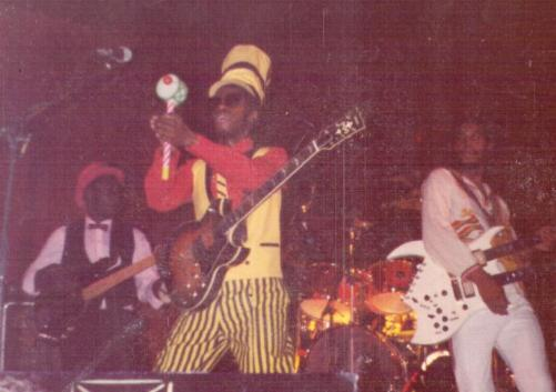 Steel Pulse, resplendent in their stage costumes, in 1983.