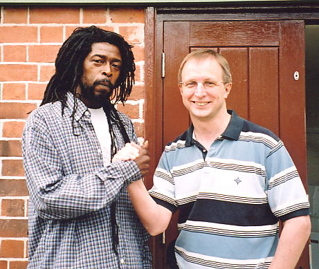 Percy Dread and the author at Nottingham Arboretum, August 2005.