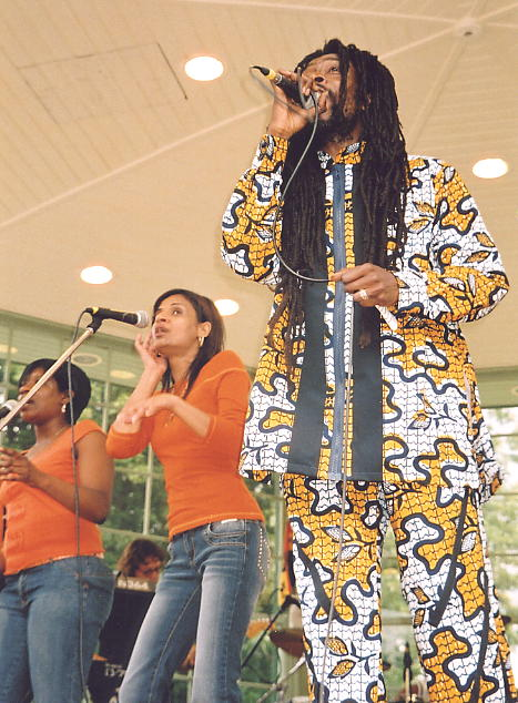 Percy Dread performing live at the Arboretum.