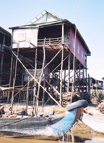 A village on stilts - Kompong Phluk.