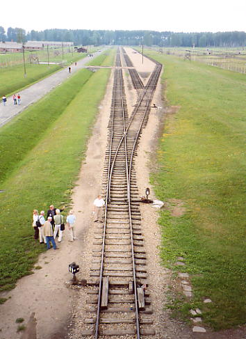These railway tracks took prisoners directly to the crematoria and gas chambers.