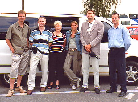 Another group photo. LtoR: Tim, Andy, Sue, Andrea, Pieter & Jon.