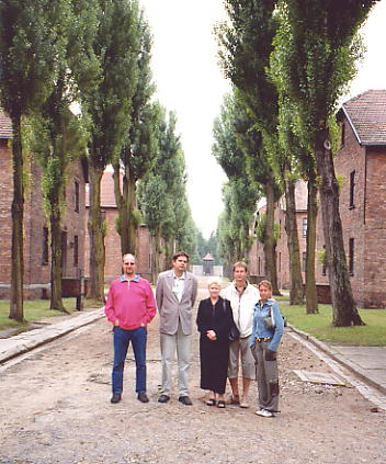 Group shot at Auschwitz.