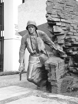 Part of the Warsaw Uprising monument.