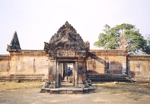 The southern entrance to Gopura IV, with the Churning lintel above the doorway.