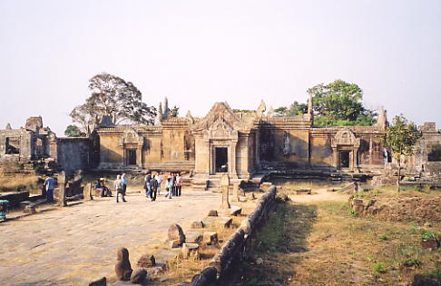 Looking back at the southern entrance of Gopura III at Preah Vihear.
