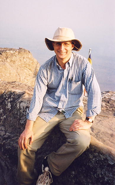 Perhaps the least flattering picture I've ever had taken, on the cliff-edge at Preah Vihear.
