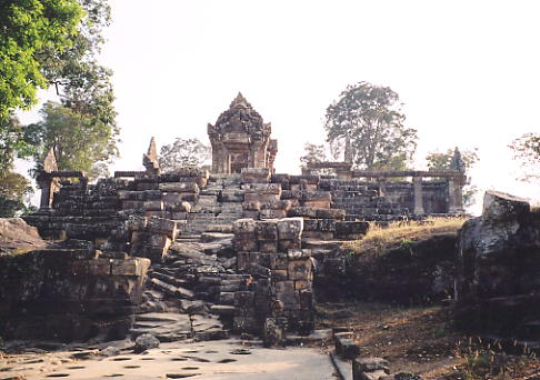 The approach to Gopura IV, built in the 11th century, at Preah Vihear.