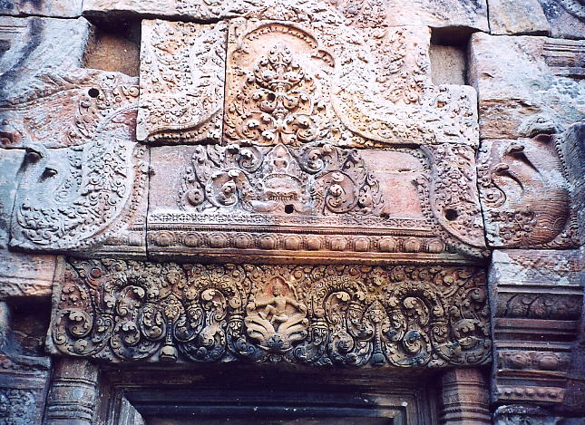 Another finely-carved lintel and pediment at Gopura IV.