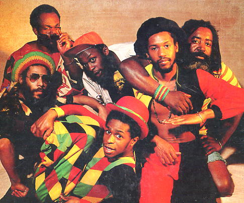 The band line-up for the cover of their 1980 album release in the States, called Reggae Fever.