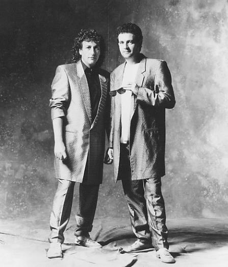 Cry No More publicity shot, Chas (left) and Roy, 1987.