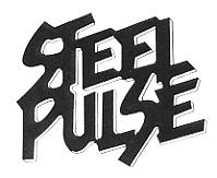 The Steel Pulse logo, found on all of the band's merchandise.