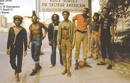 June 1979 Steel Pulse in Germany. Photo: Adrian Boot [scanned from 20th Century Masters cd]