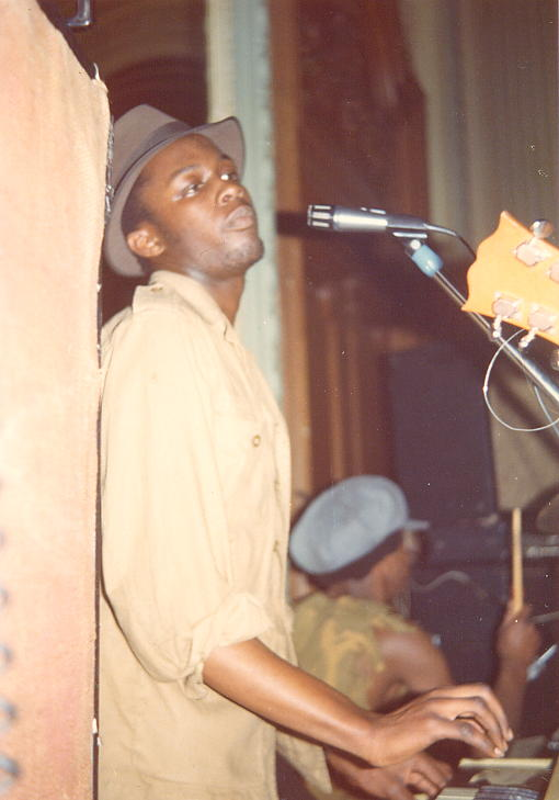 Selwyn Brown on keyboards at The Grand Hotel in '76.
