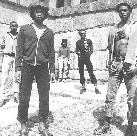 Steel Pulse in Germany, 1979. Photo; Adrian Boot (scanned from Reggae Greats cd).