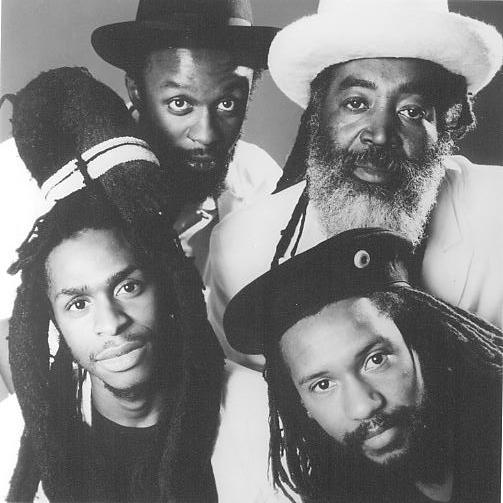 Steel Pulse line-up for their State of Emergency release in 1988.