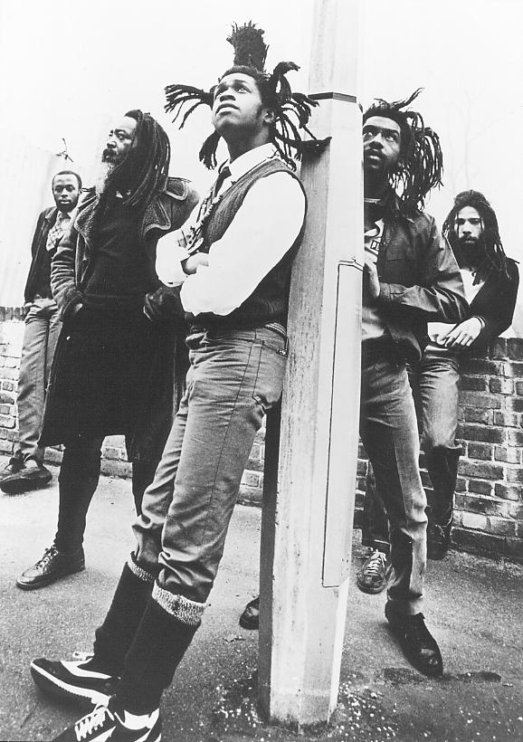 Steel Pulse hanging around for their 1982 True Democracy LP.