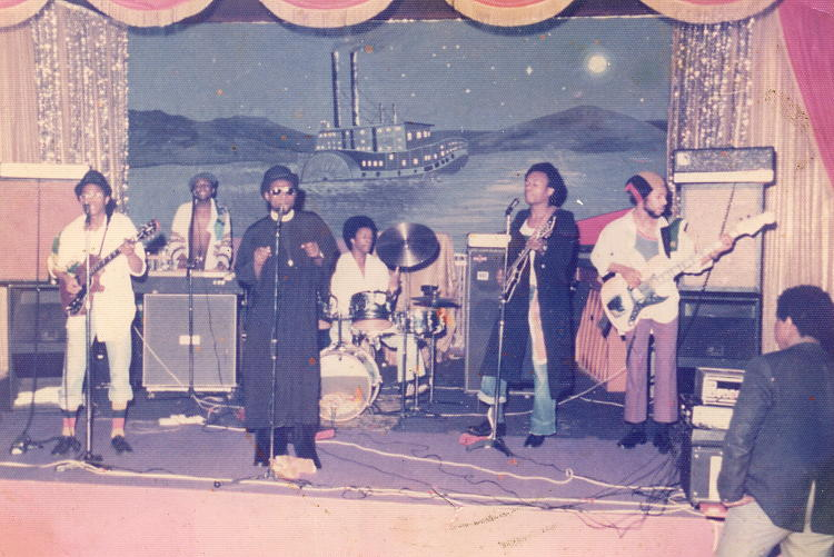 Steel Pulse on stage in Nottingham at Easter 1976.
