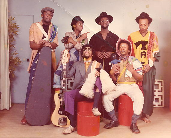 Steel Pulse in November 1976: Selwyn, David, Michael, Basil, Ronnie & Colin (photo courtesy of Colin Gabbidon).