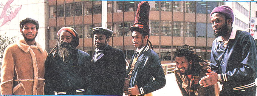 Steel Pulse's 1983 line-up for the Steppin' Out single.