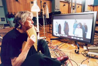 Tony at work on the new Camera album [Photo: David Argent] Copyright 2003 Cooking Vinyl Ltd. All rights reserved.