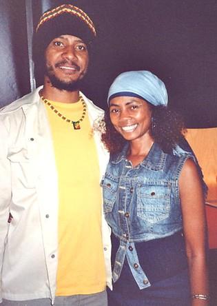 Yaz with Birmingham reggae singer Rockstone, Sept 2006.