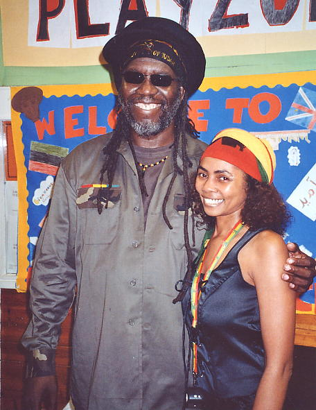 Yaz with Macka B, May 2006 [photo - Andy Brouwer].